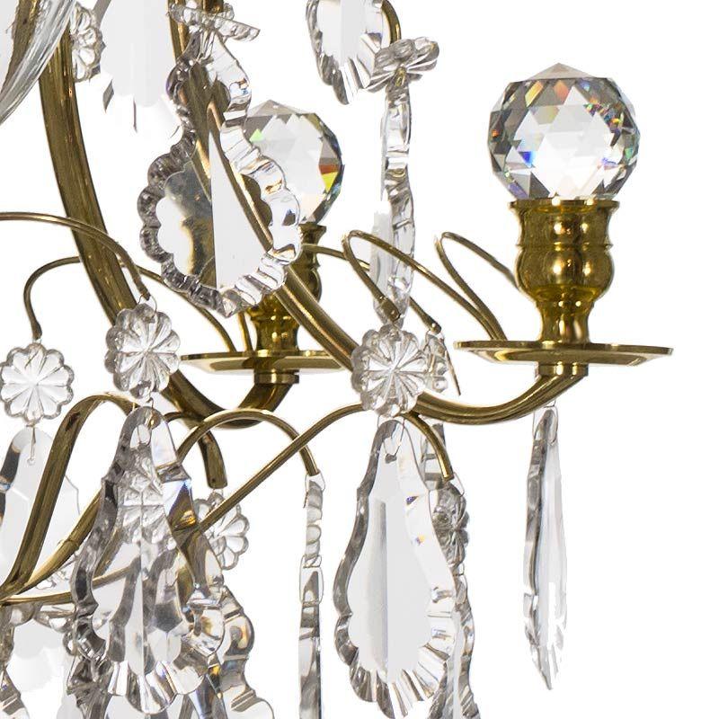 schwedischer messing badezimmer kronleuchter mit kristall. Black Bedroom Furniture Sets. Home Design Ideas