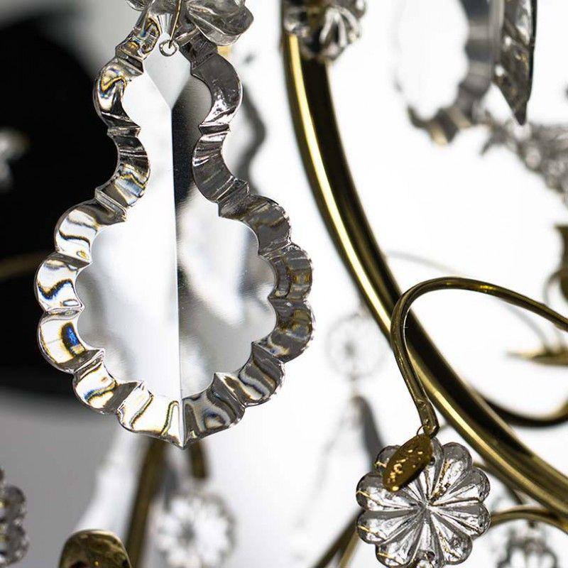 Lampadario da bagno in ottone con fiori e pendenti svezia in vendita su pamono - Lampadario da bagno ...