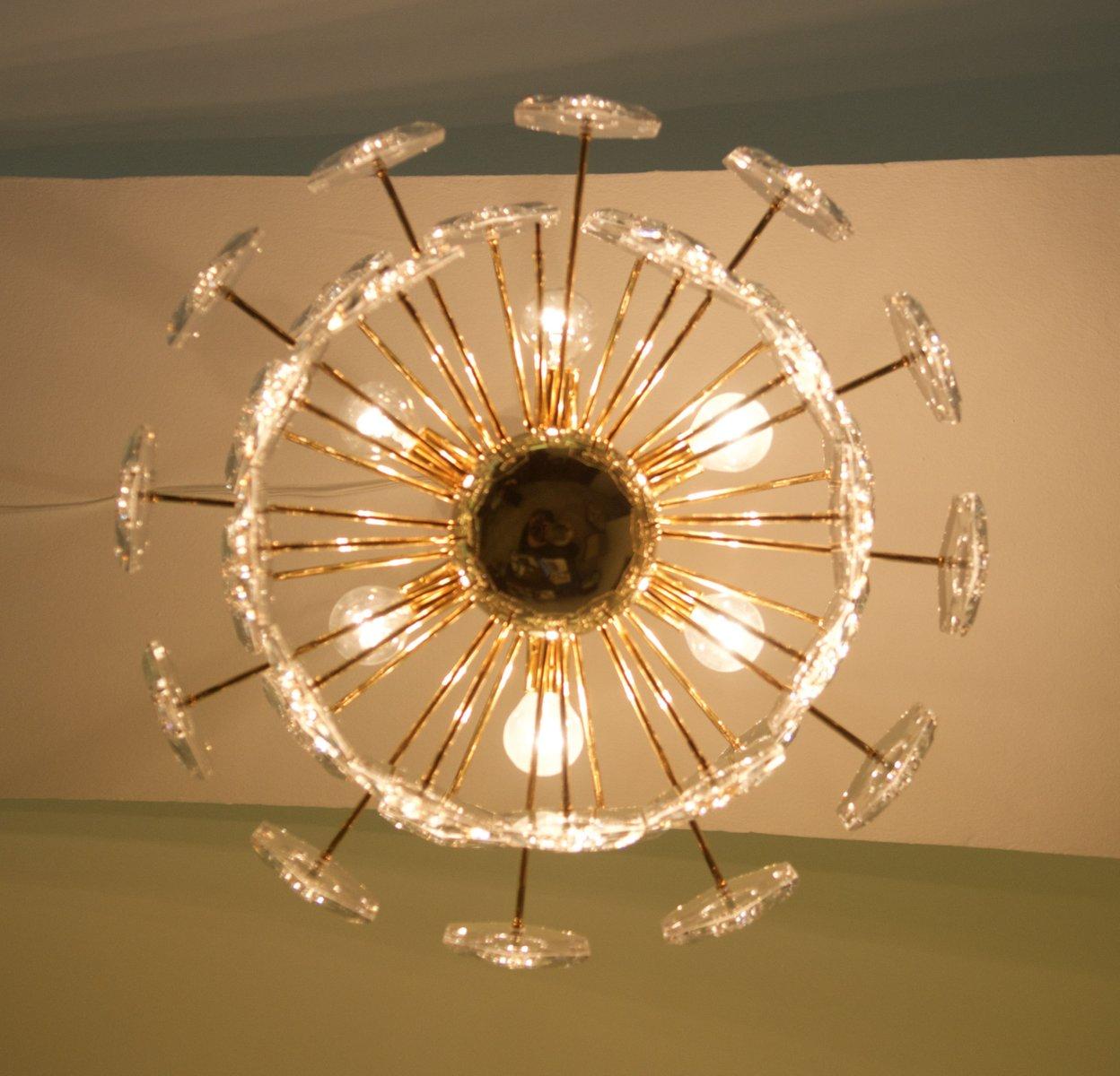 sechseckiger kinkeldey glas kronleuchter bei pamono kaufen. Black Bedroom Furniture Sets. Home Design Ideas