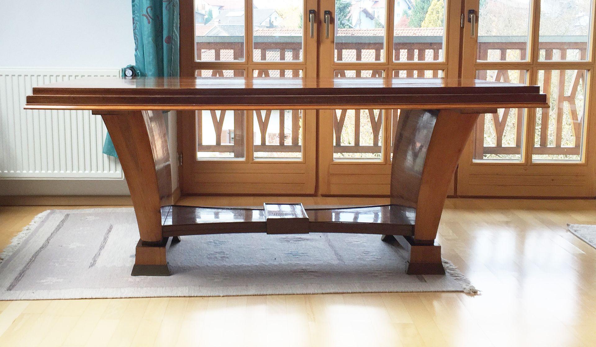 art deco esstisch aus holz 1930er bei pamono kaufen. Black Bedroom Furniture Sets. Home Design Ideas
