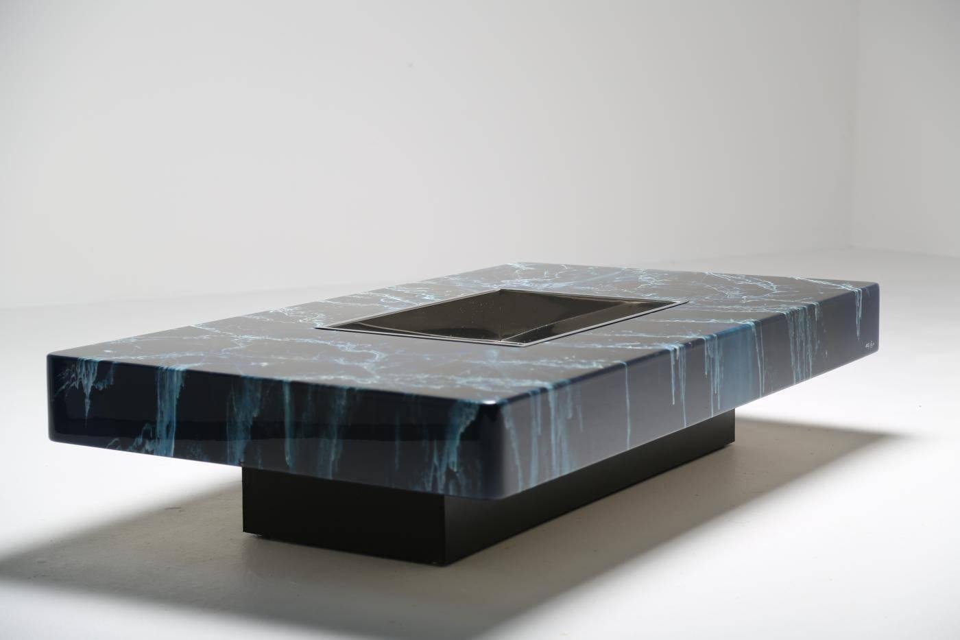 Lacquered wood coffee table by willy rizzo for sale at pamono for Table willy rizzo
