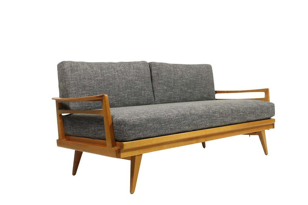 mid century ausziehbares sofa von knoll antimott bei pamono kaufen. Black Bedroom Furniture Sets. Home Design Ideas