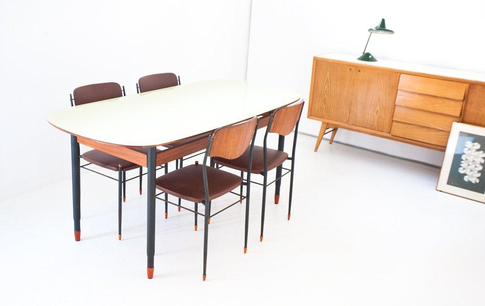 Table de salle manger mid century moderne italie en for Vente flash salle a manger moderne