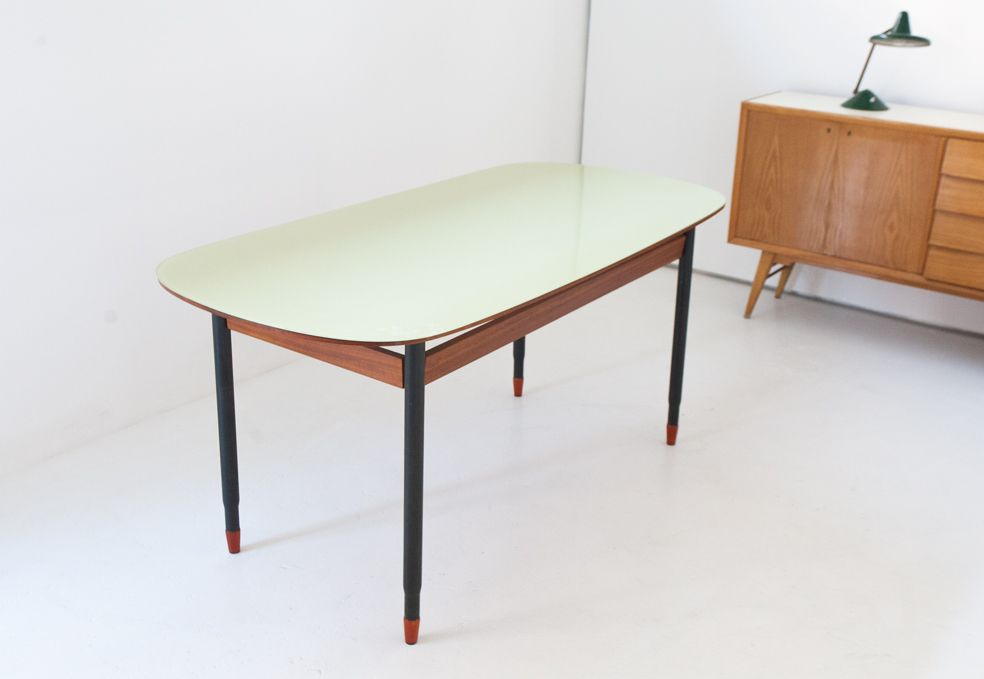 Italian mid century modern dining table for sale at pamono for Mid century modern dining table