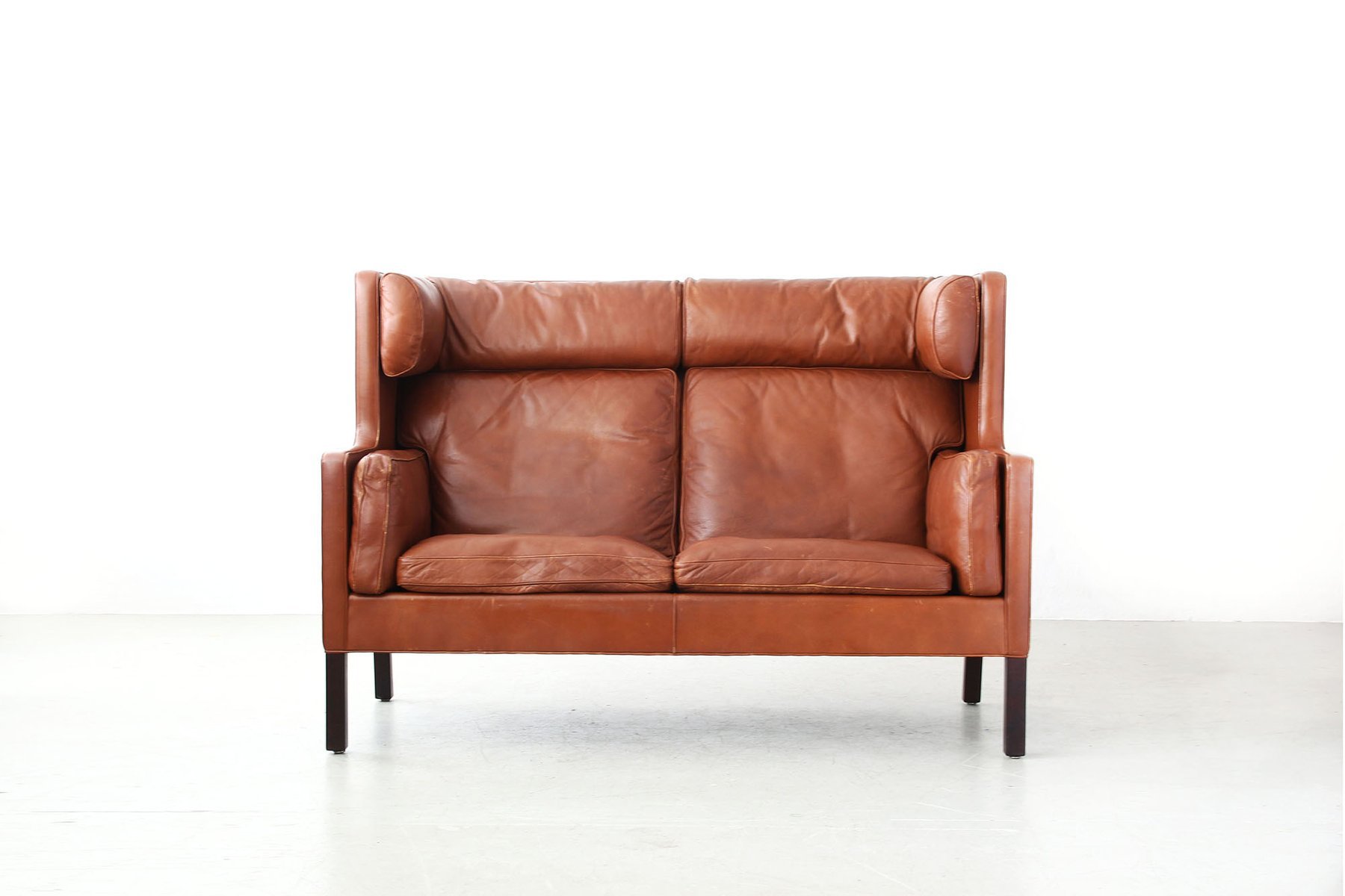 highback leather sofa by b rge mogensen for fredericia for. Black Bedroom Furniture Sets. Home Design Ideas