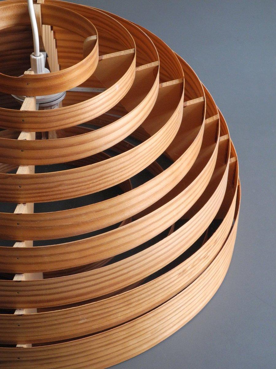 h ngelampe aus holz von hans agne jakobsson f r ellysett markaryd 1960er bei pamono kaufen. Black Bedroom Furniture Sets. Home Design Ideas