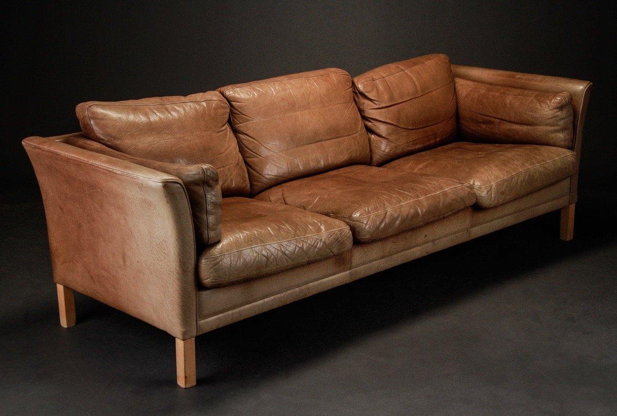d nisches 3 sitzer ledersofa von mogens hansen bei pamono kaufen. Black Bedroom Furniture Sets. Home Design Ideas