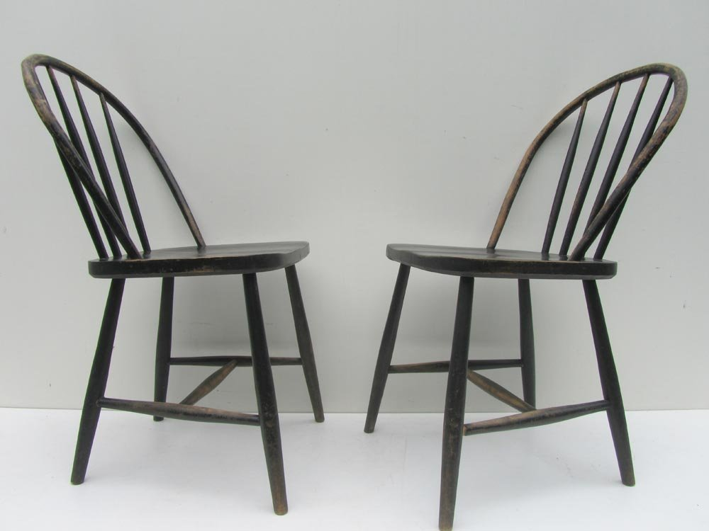 Vintage wooden bowback dining chairs set of for sale at