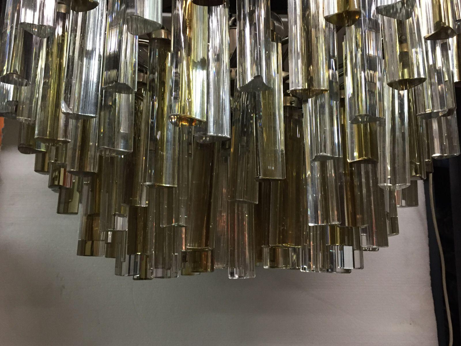 chandelier en verre murano par paulo venini pour venini 1960s en vente sur pamono. Black Bedroom Furniture Sets. Home Design Ideas