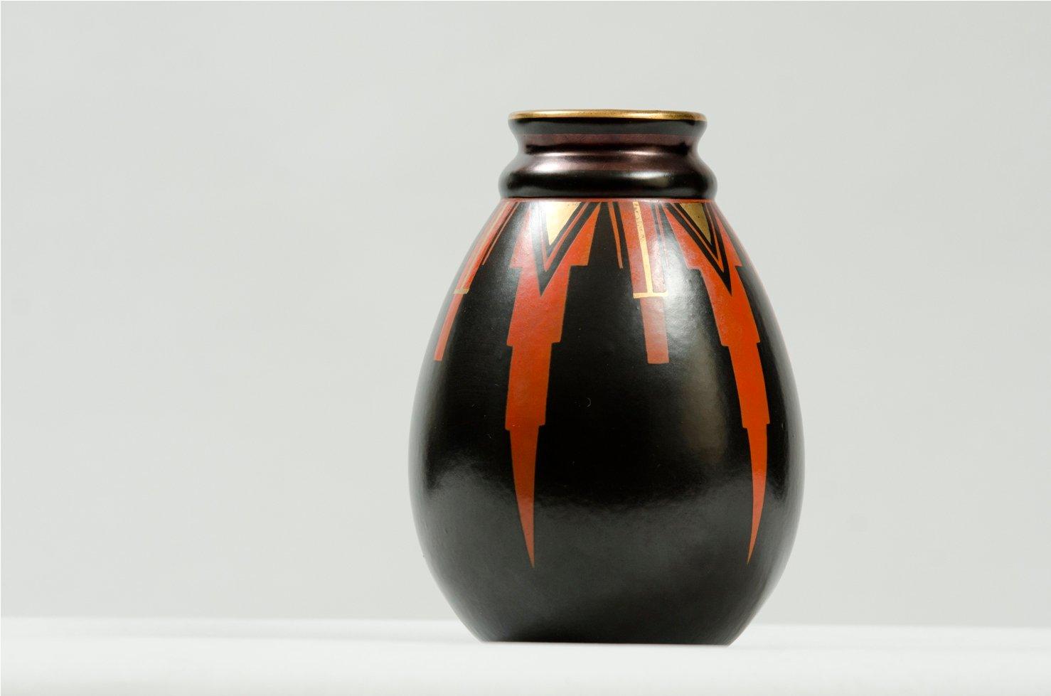 vase art d co par emile lombart pour st ghislain. Black Bedroom Furniture Sets. Home Design Ideas