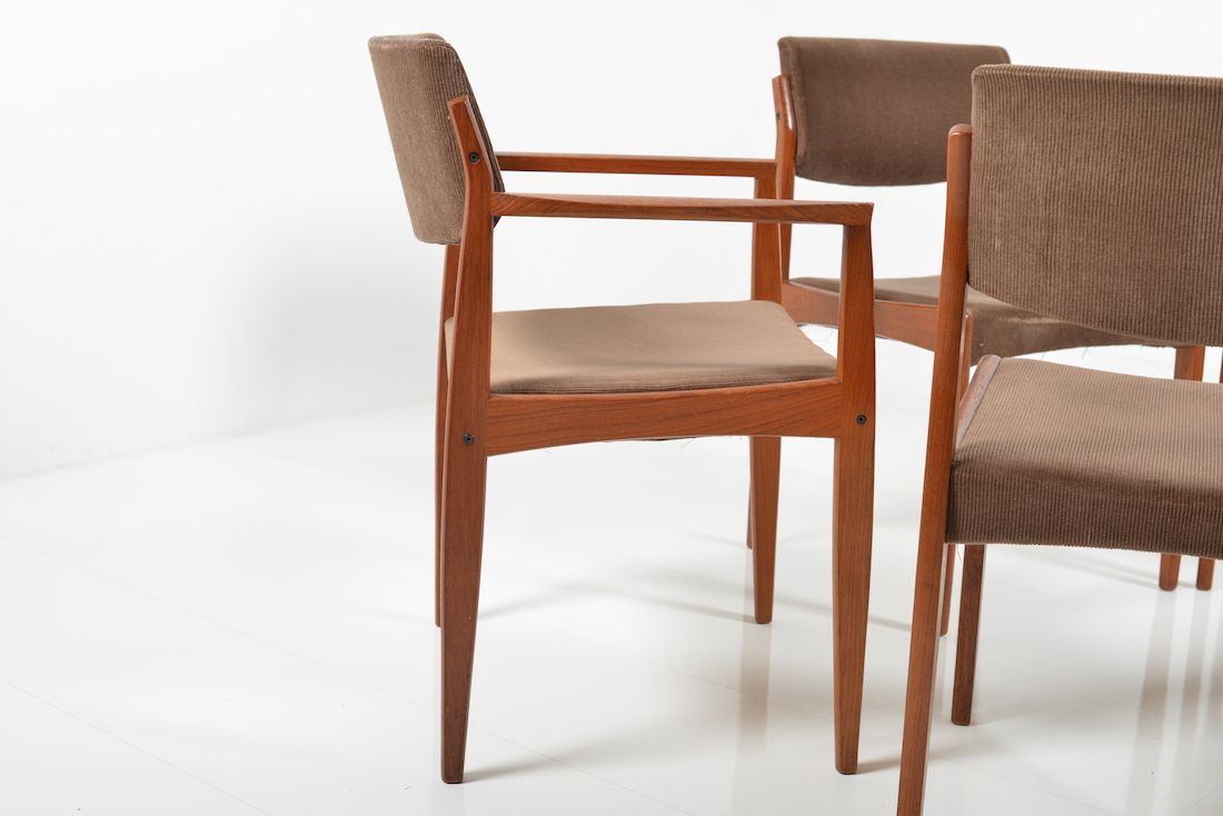 Teak Dining Chairs By H W Klein For Bramin Set Of 6 For