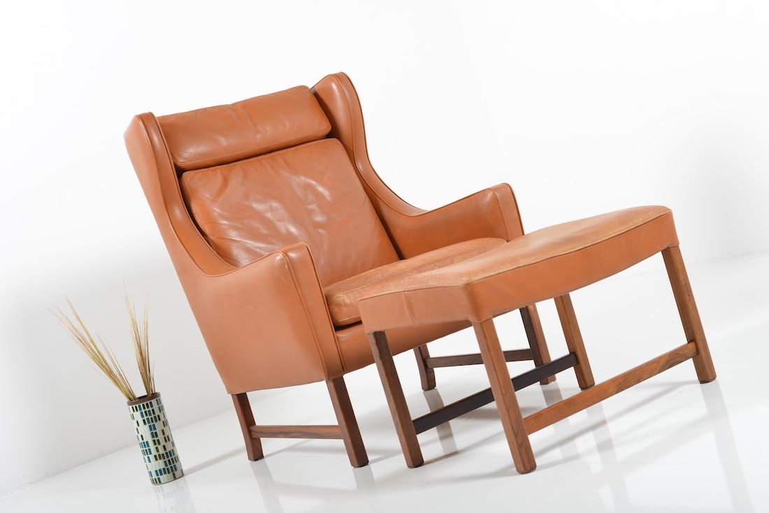 Vatne 965 High Lounge Chair with Footstool by Frederik Kayser for Vatne Møbler  sc 1 st  Pamono & Vatne 965 High Lounge Chair with Footstool by Frederik Kayser for ... islam-shia.org