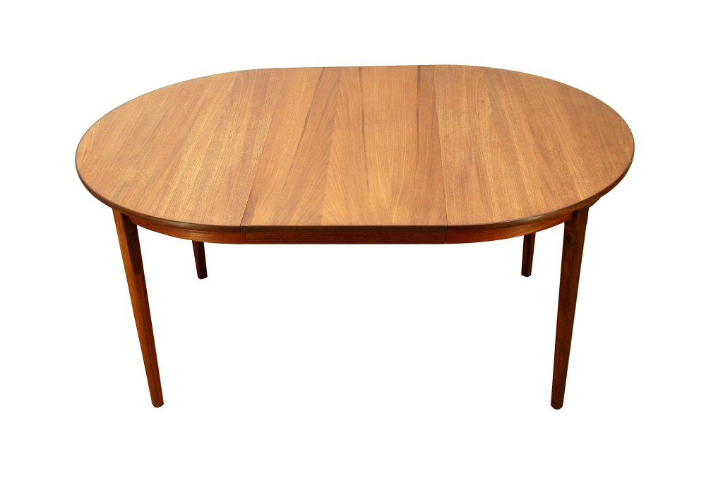 vintage danish round extendable dining table for sale at pamono. Black Bedroom Furniture Sets. Home Design Ideas
