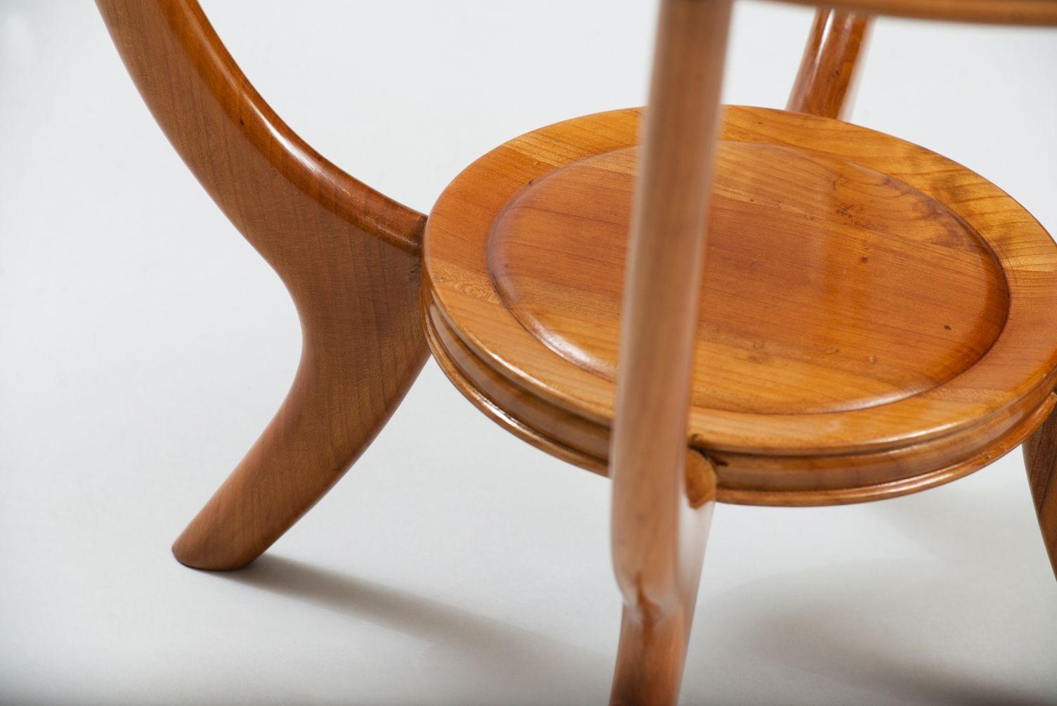 italienischer beistelltisch aus bergahorn und glas bei pamono kaufen. Black Bedroom Furniture Sets. Home Design Ideas