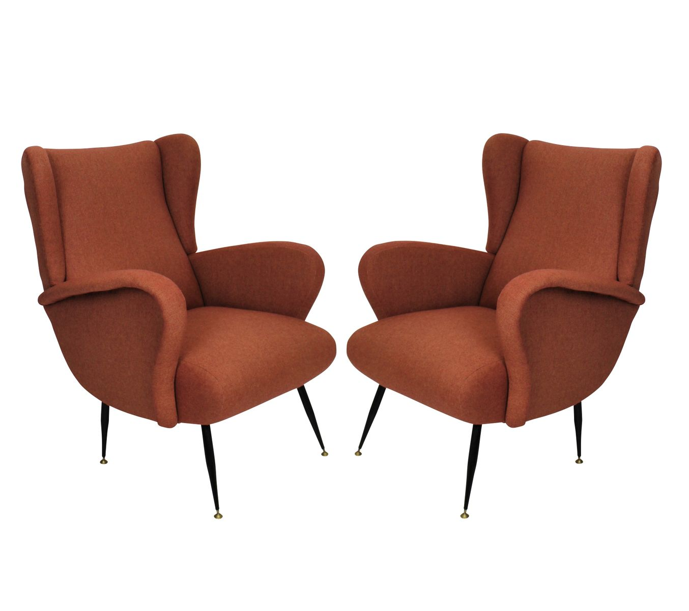 Italian Vintage Lounge Chairs 1950s Set Of 2 For Sale At