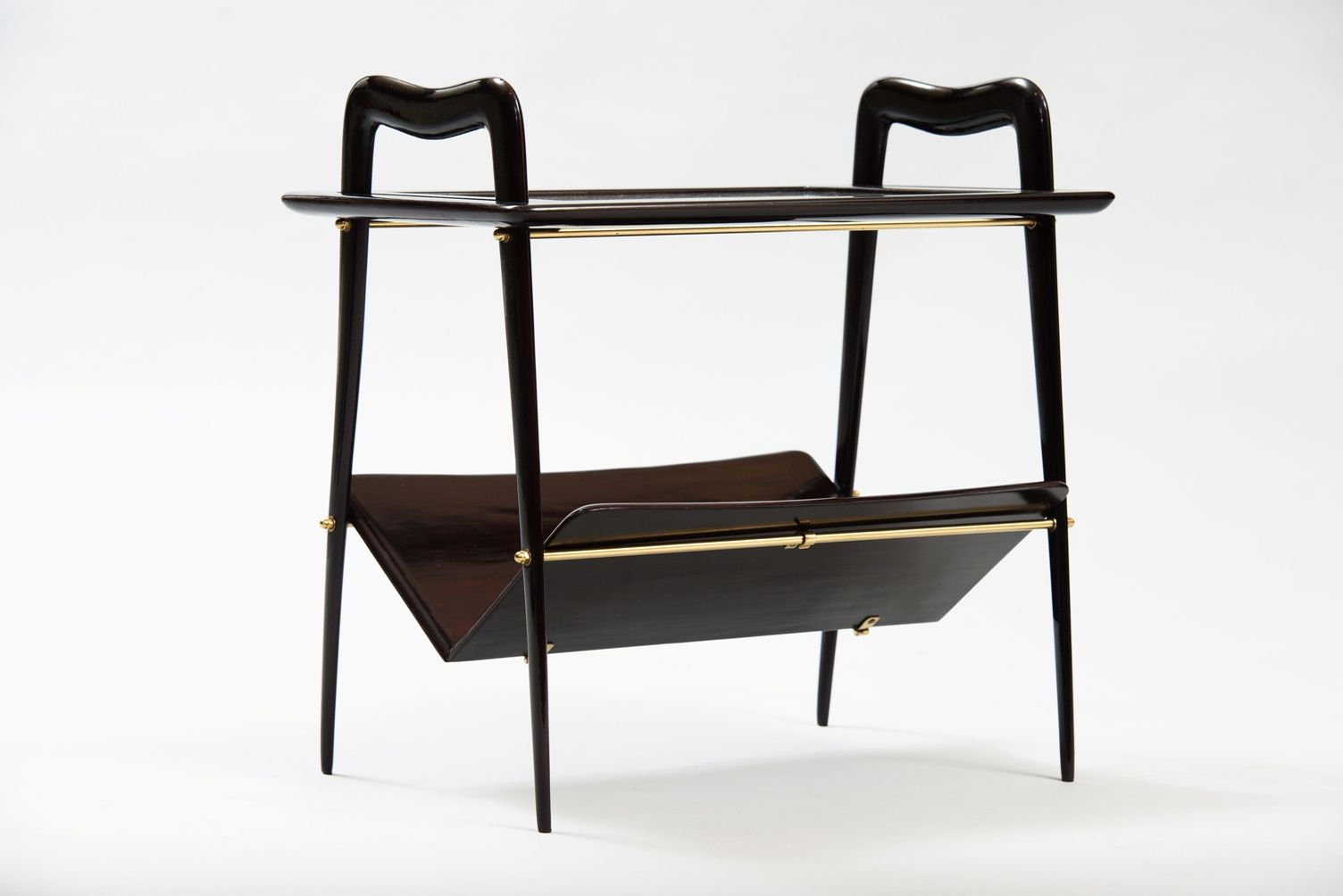 Wonderful image of Side Table with Magazine Rack by Ico Parisi for sale at Pamono with #927739 color and 1504x1004 pixels