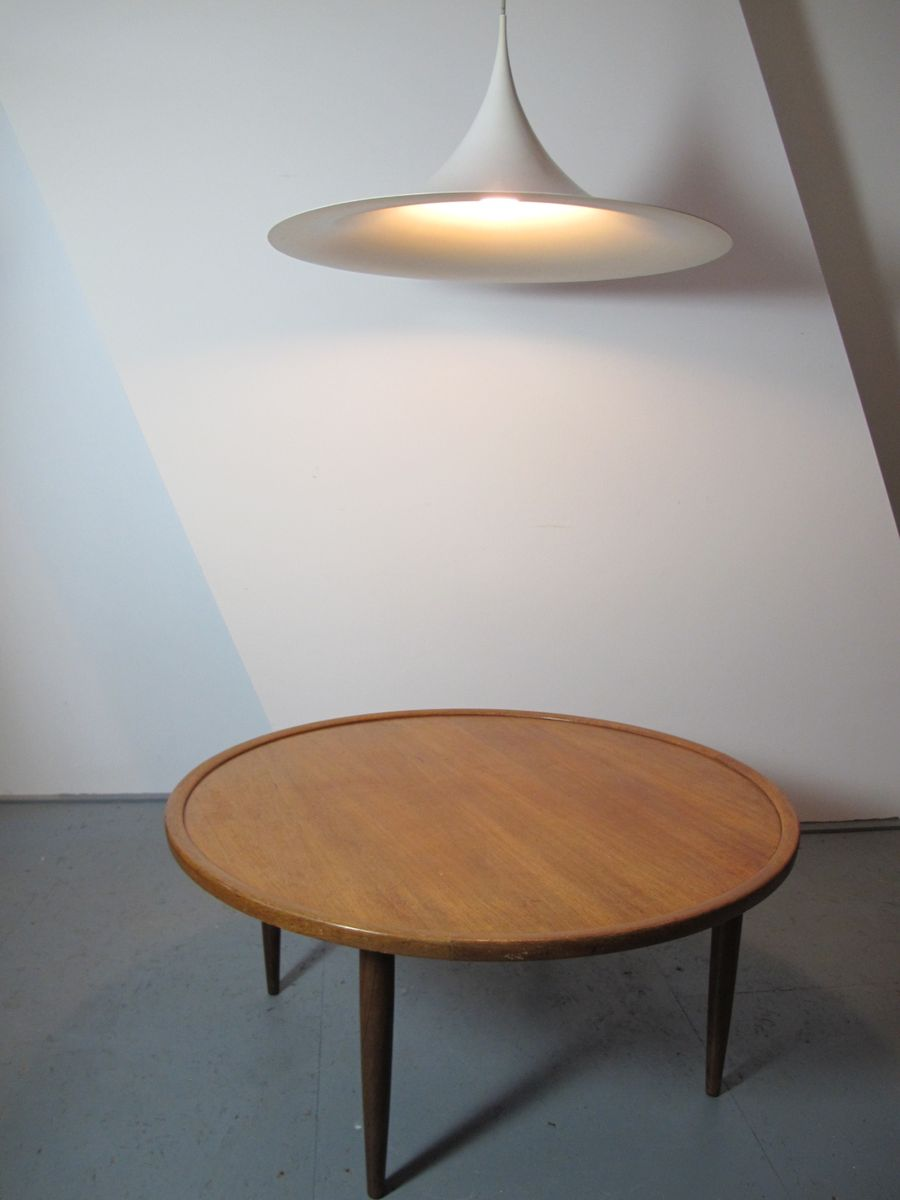 wooden scandinavian coffee table, 1950s for sale at pamono