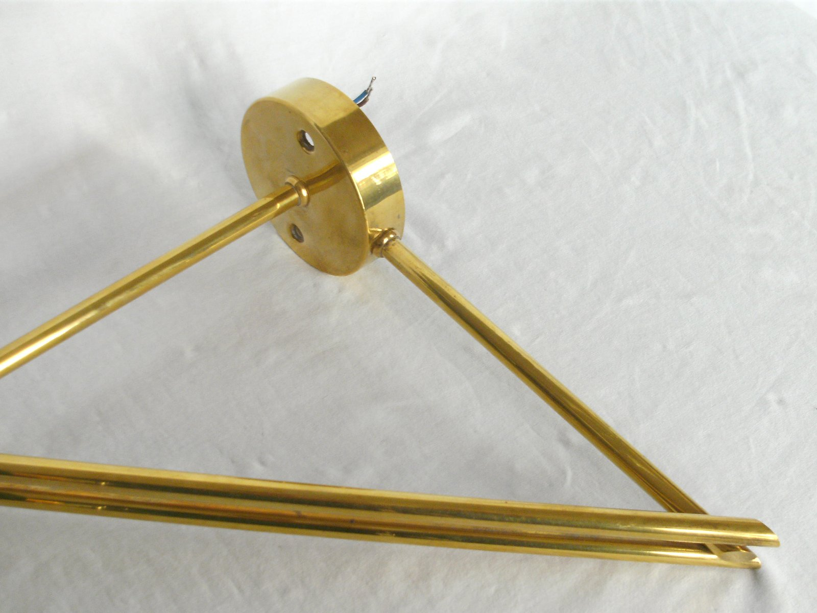 Small Brass & Enamel Wall Lamp for sale at Pamono