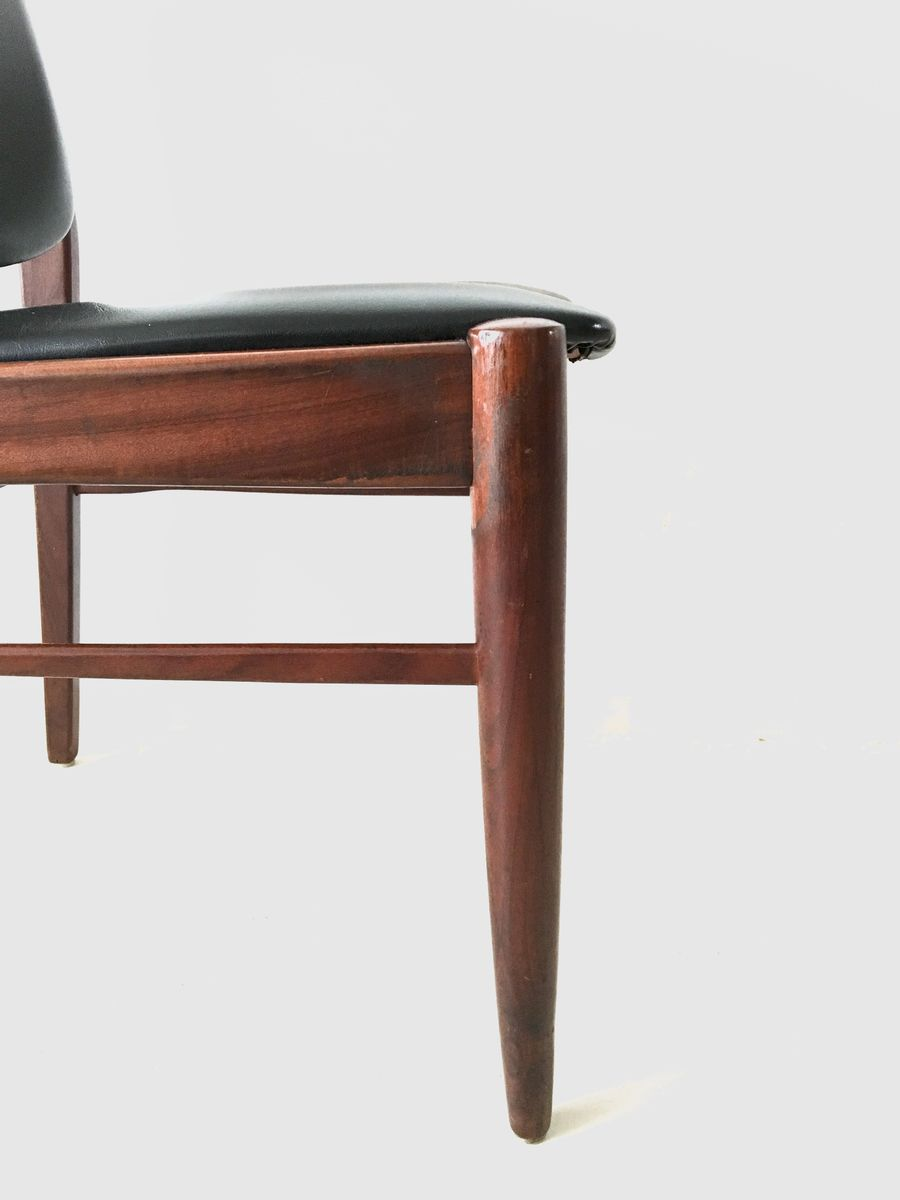Vintage Danish Dining Chairs 1960s Set Of 4 For Sale At