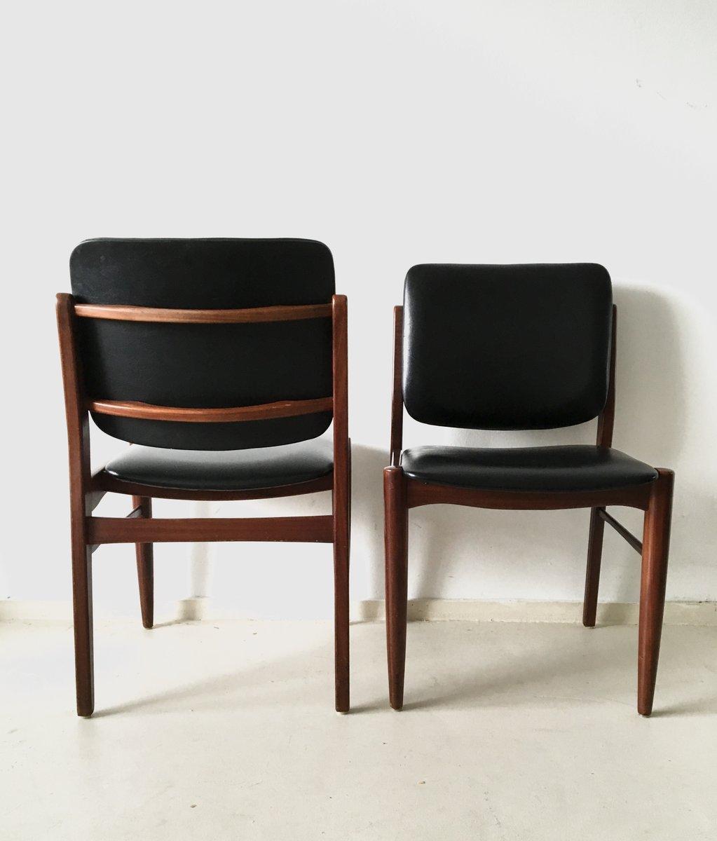 d nische vintage esszimmerst hle 1960er 4er set bei. Black Bedroom Furniture Sets. Home Design Ideas