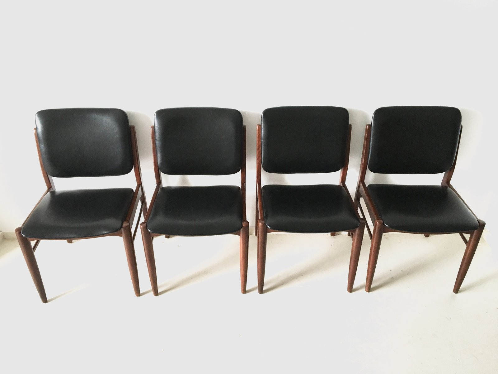 Vintage Danish Dining Chairs 1960s Set Of 4 For Sale At Pamono
