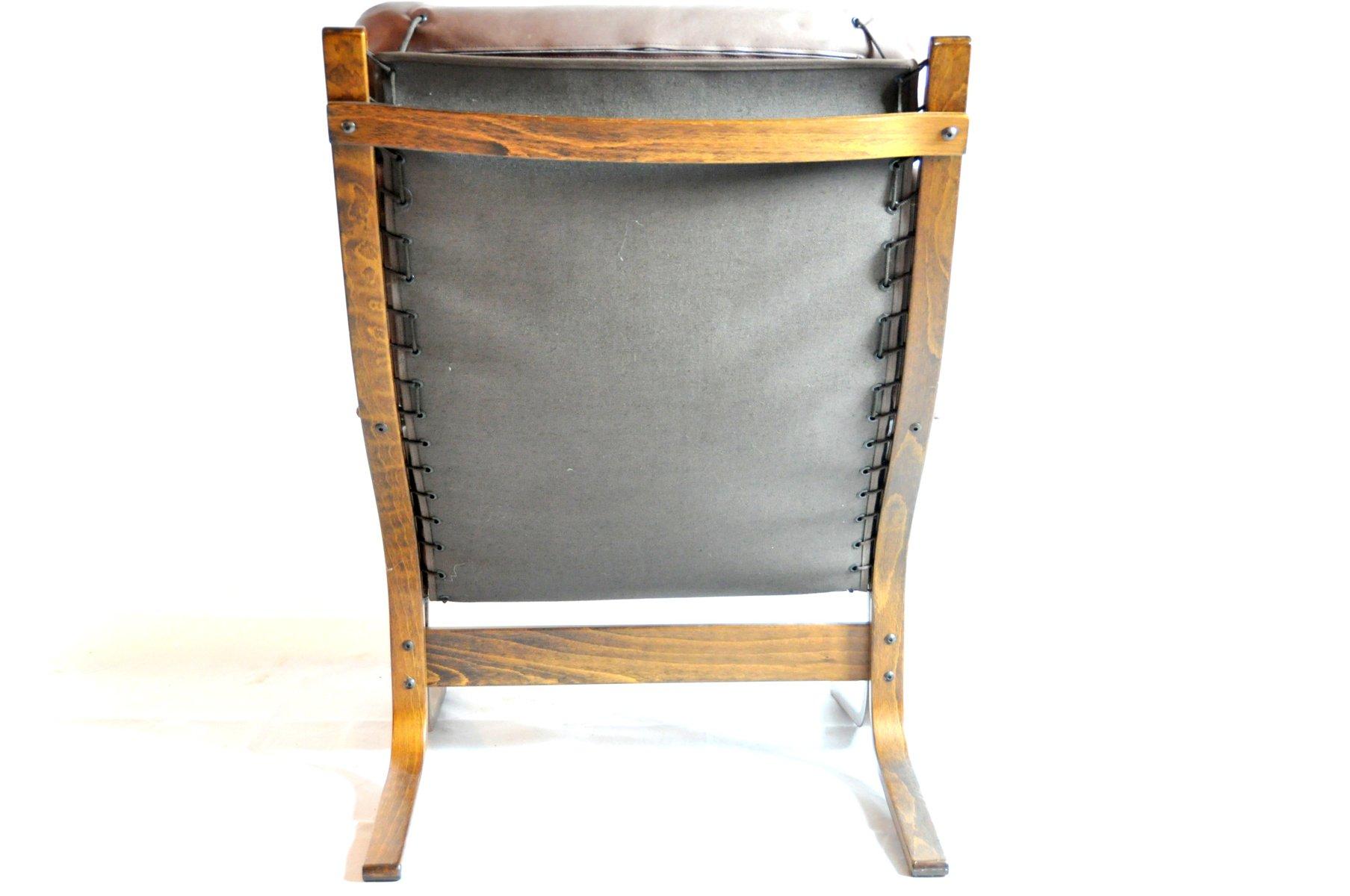 vintage cognac ledersessel mit ottomane 2er set bei. Black Bedroom Furniture Sets. Home Design Ideas