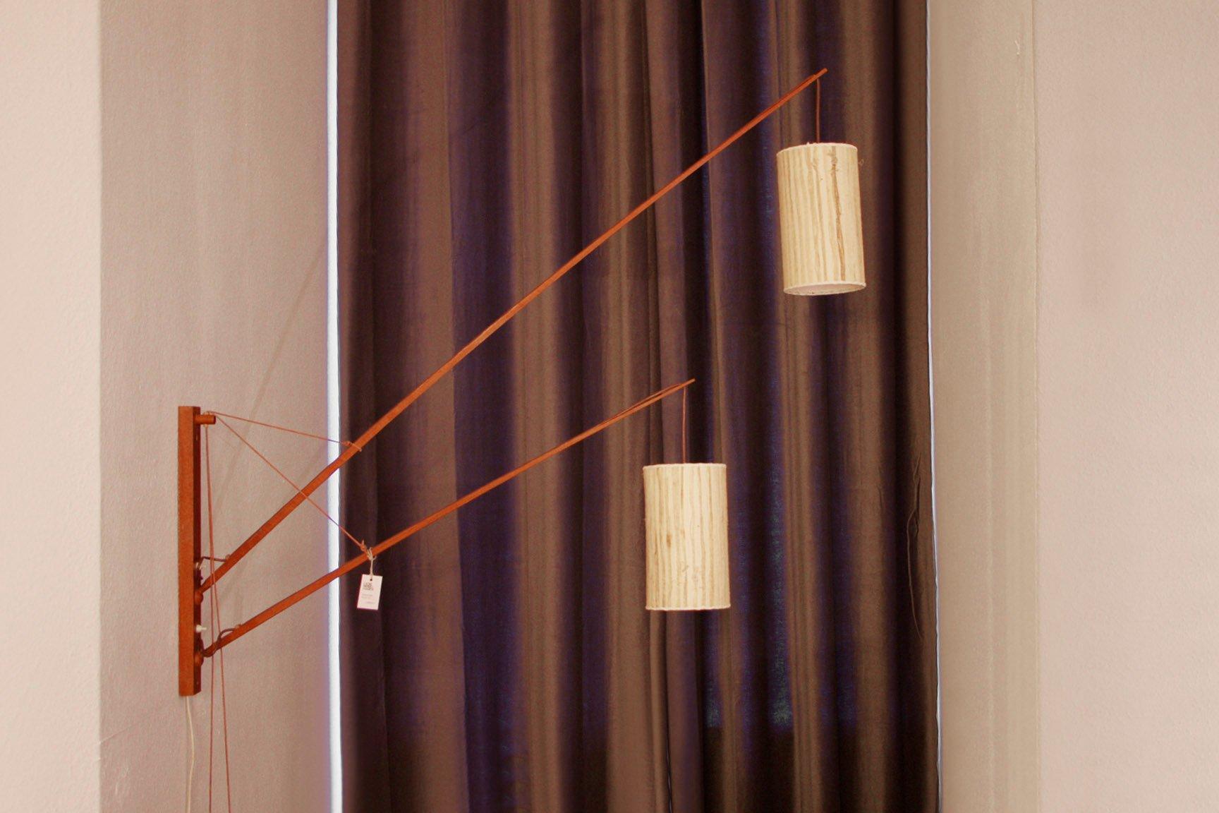 teakholz wandlampe von rupprecht skrip f r skrip leuchten 1958 bei pamono kaufen. Black Bedroom Furniture Sets. Home Design Ideas