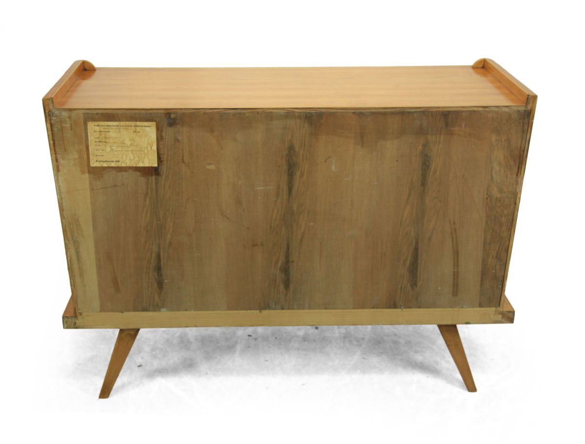 mid century kirschholz sideboard von me kircher m belfabrik bei pamono kaufen. Black Bedroom Furniture Sets. Home Design Ideas
