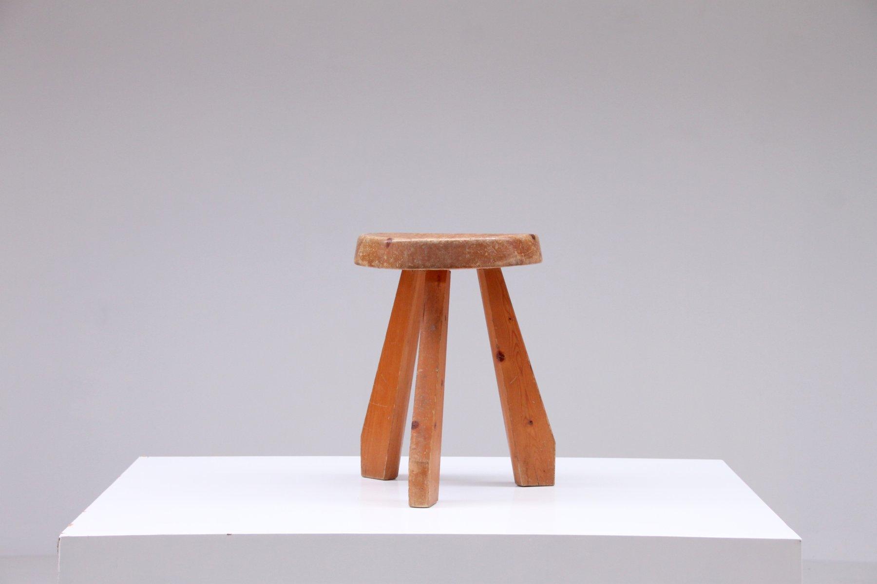 tabouret sandoz par charlotte perriand en vente sur pamono. Black Bedroom Furniture Sets. Home Design Ideas