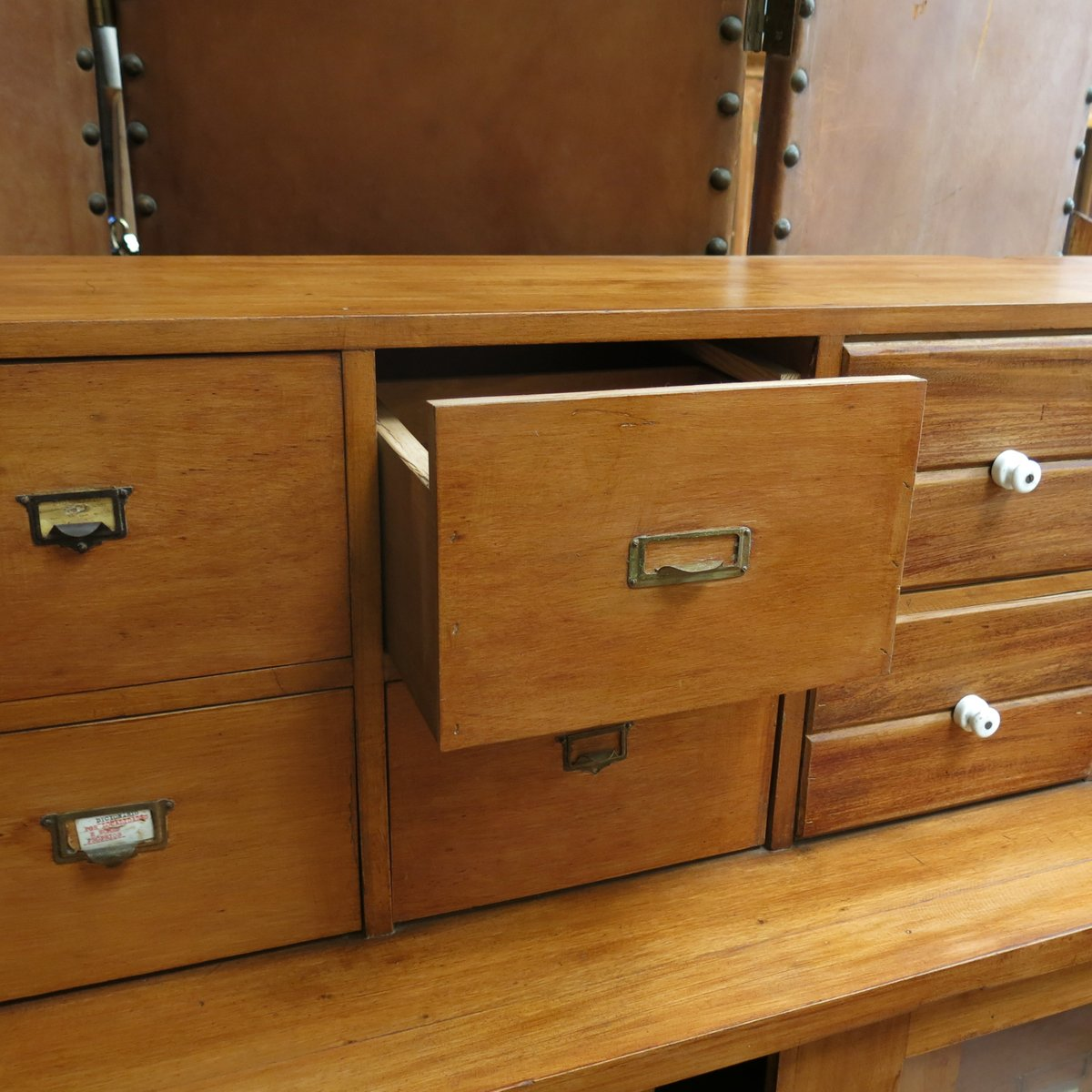 Vintage Pharmacy Lab Cabinet, 1940s for sale at Pamono