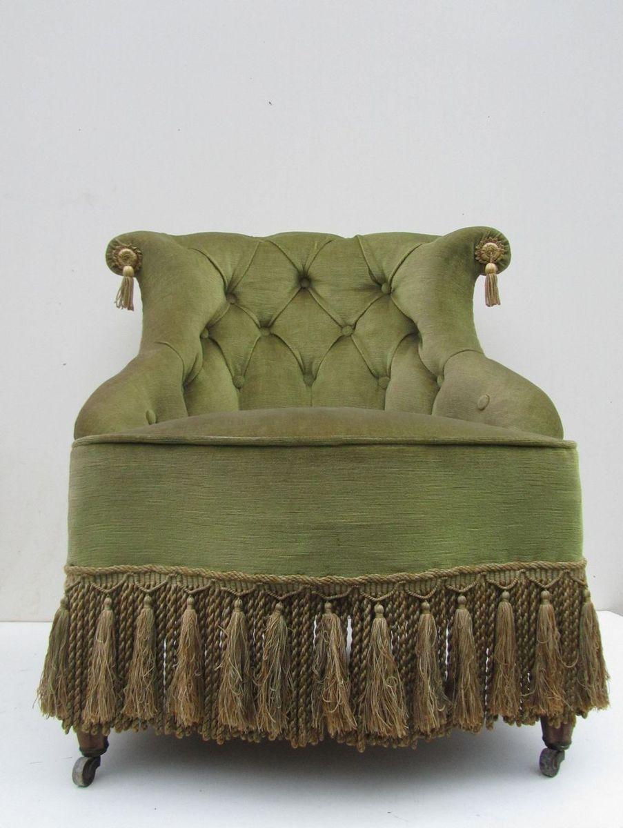 Antique velvet chair - Price 1 203 00 Regular Price 1 327 00