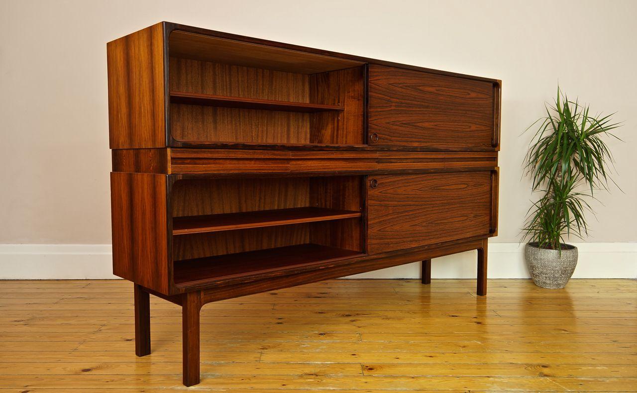 modell 233 palisander doppel sideboard von sigfred omann f r olholm mobler bei pamono kaufen. Black Bedroom Furniture Sets. Home Design Ideas
