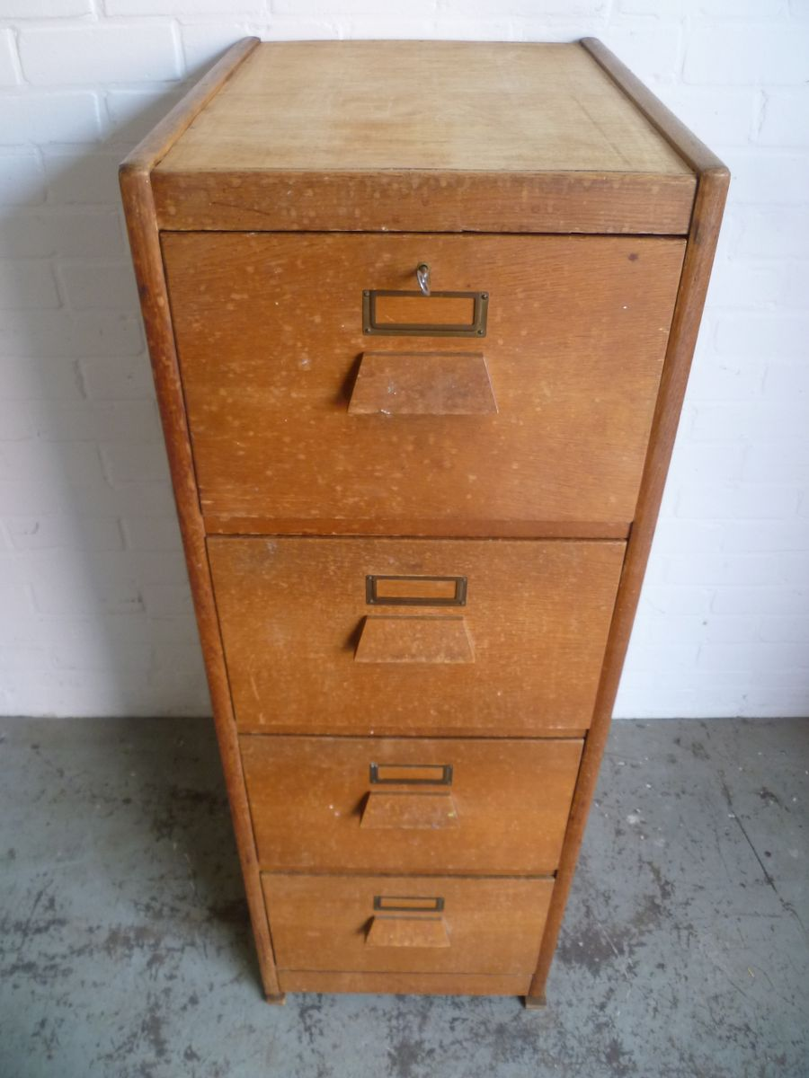 Flat file cabinet antique wood art plan map blueprint of kitchen wooden archive cabinet with 4 drawers for sale at pamono for kitchen drawers for sale malvernweather Choice Image