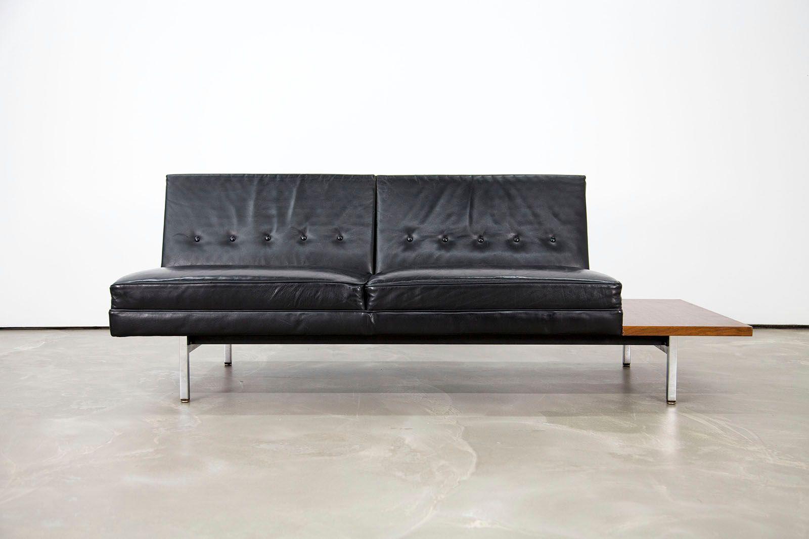 mid century modern ledersofa von george nelson f r herman. Black Bedroom Furniture Sets. Home Design Ideas