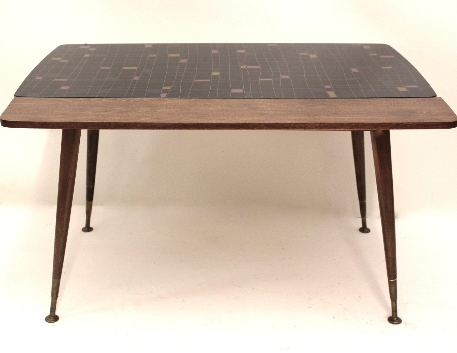 ausziehbarer tisch mit mosaikmuster 1950er bei pamono kaufen. Black Bedroom Furniture Sets. Home Design Ideas