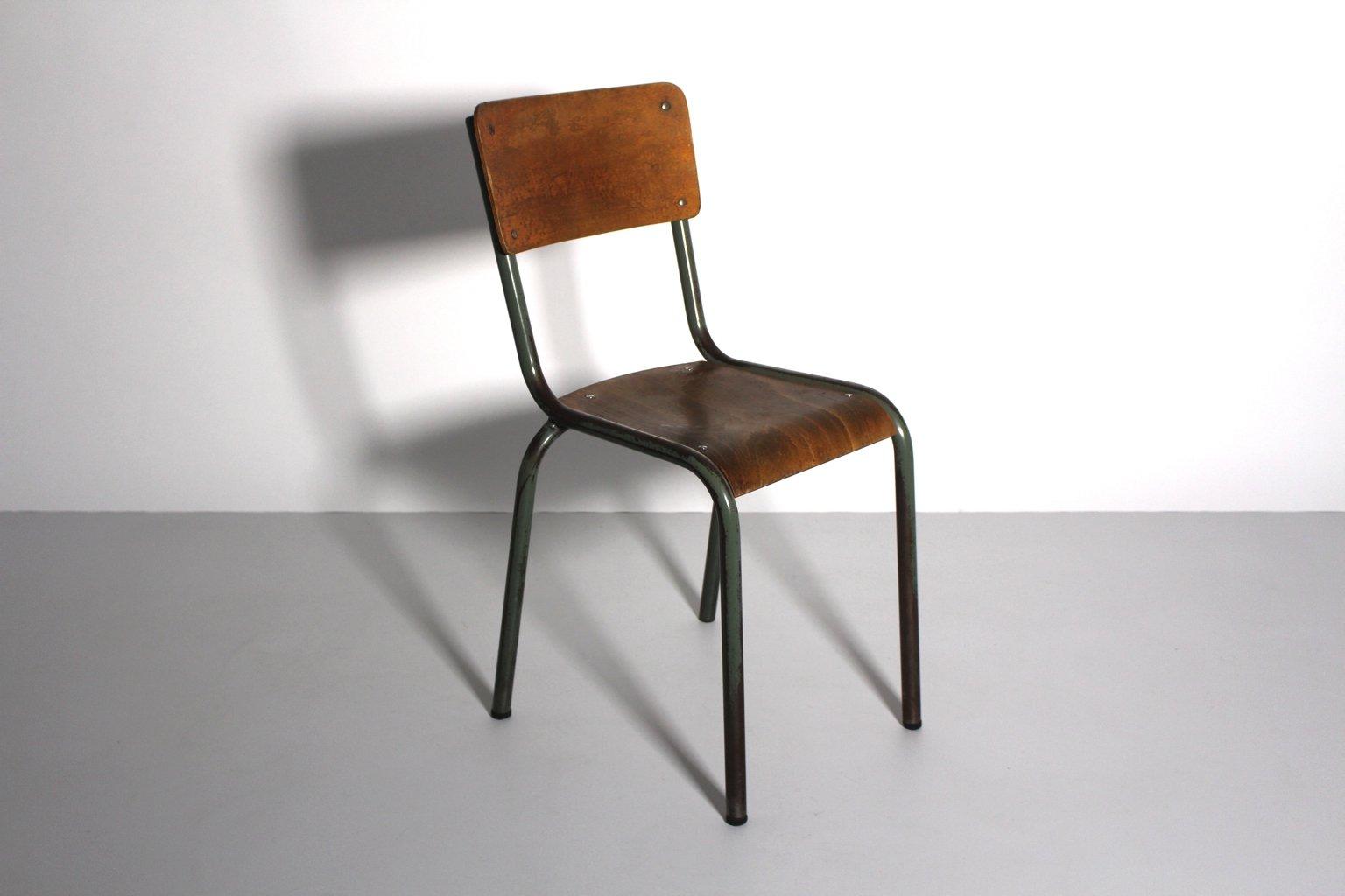 Bureau et Chaise Vintage de Style Industriel 1940s Set de 2 en