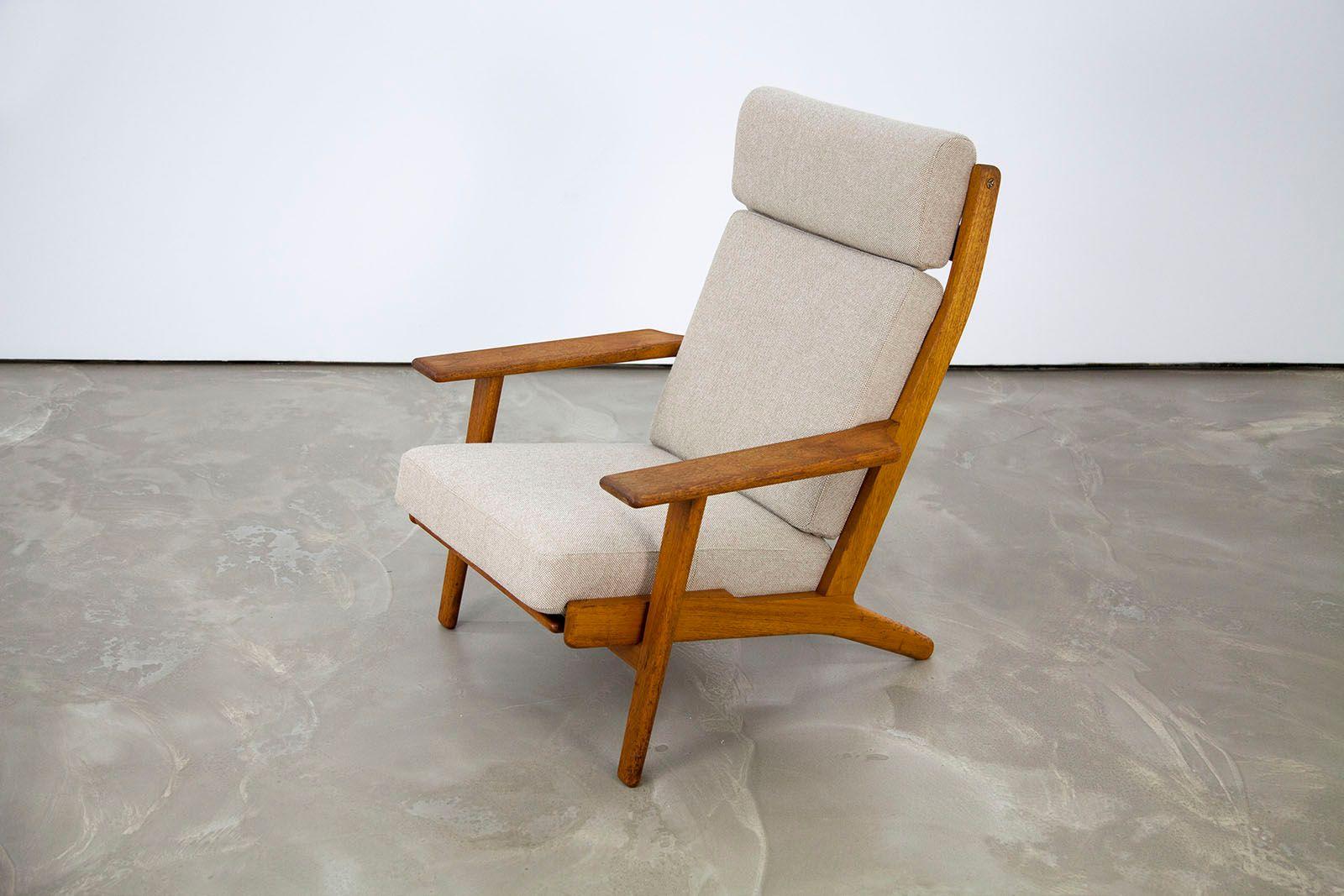 ge 290 easy chair by hans j wegner for getama for sale at pamono. Black Bedroom Furniture Sets. Home Design Ideas