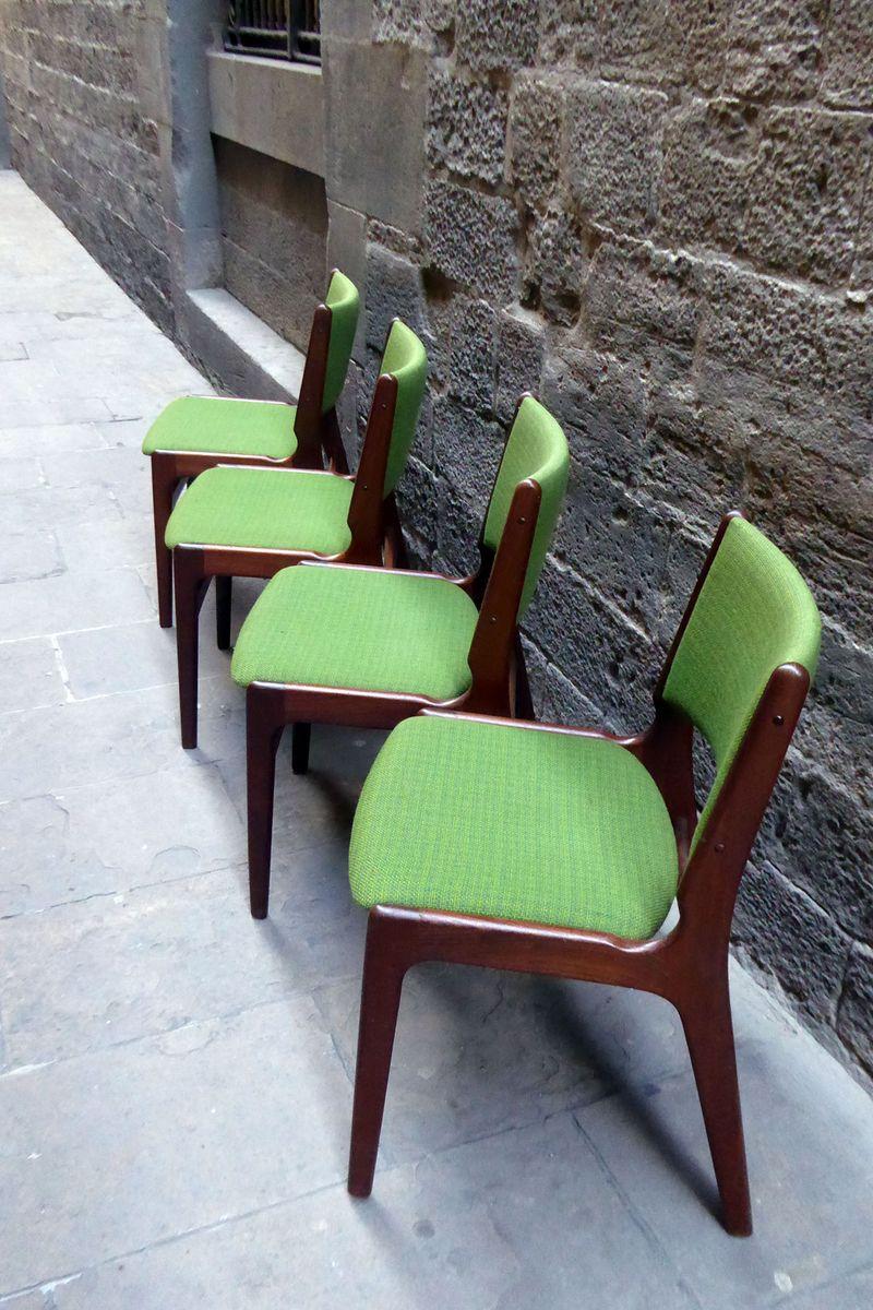 Mid Century Modern Danish Dining Chairs 1960s Set Of 4
