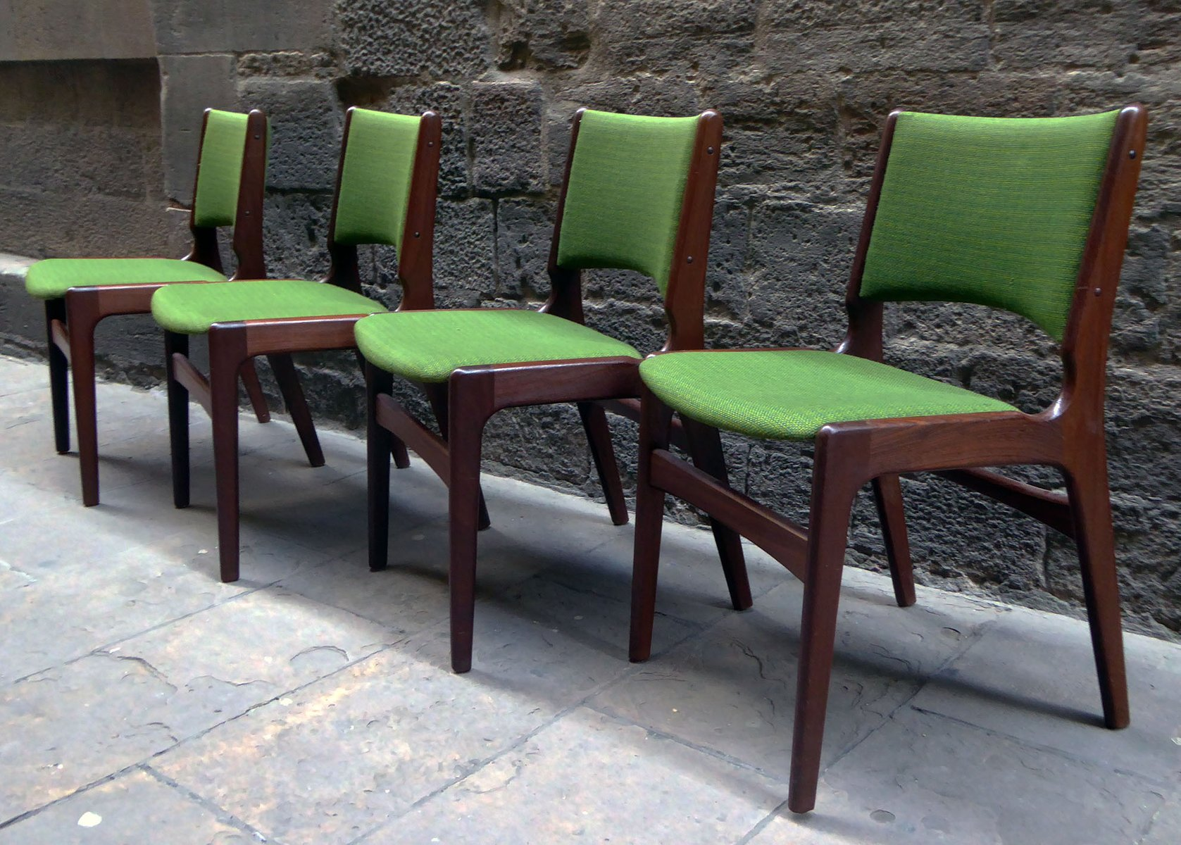 mid century modern danish dining chairs 1960s set of 4 for sale at