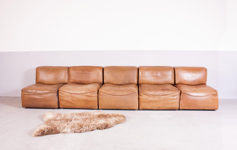 modulares sofa ds15 aus b ffelleder von de sede 1970 bei pamono kaufen. Black Bedroom Furniture Sets. Home Design Ideas