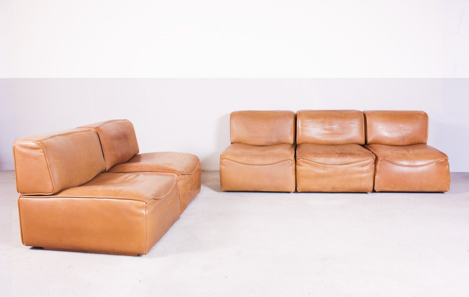 Ds15 Modular Sofa In Buffalo Leather From De Sede 1970 For Sale At Pamono