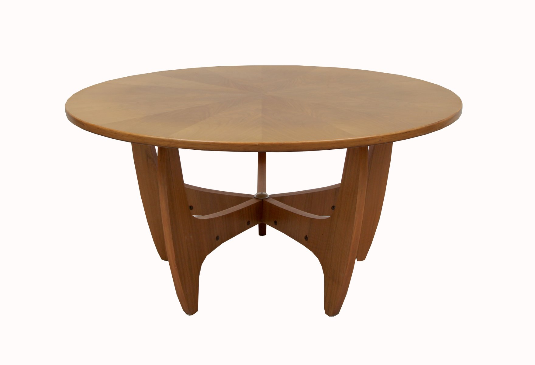 Mid century german walnut coffee table 1960s for sale at pamono mid century german walnut coffee table 1960s geotapseo Gallery