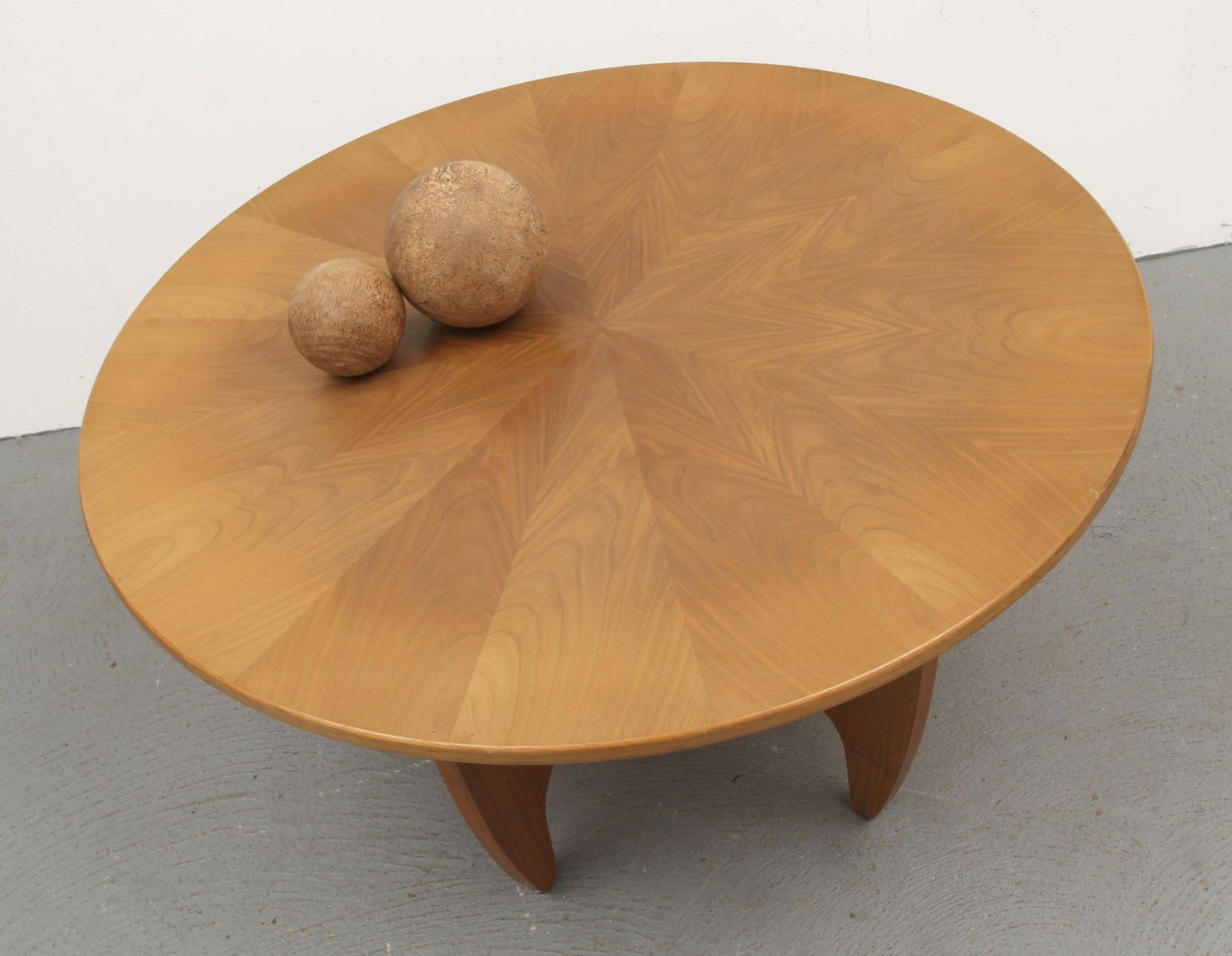 Mid Century German Walnut Coffee Table 1960s For Sale At Pamono