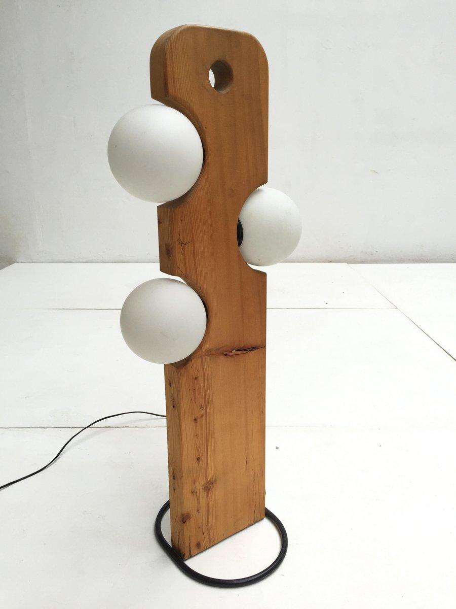 pine wood floor lamp from temde leuchten 1970s