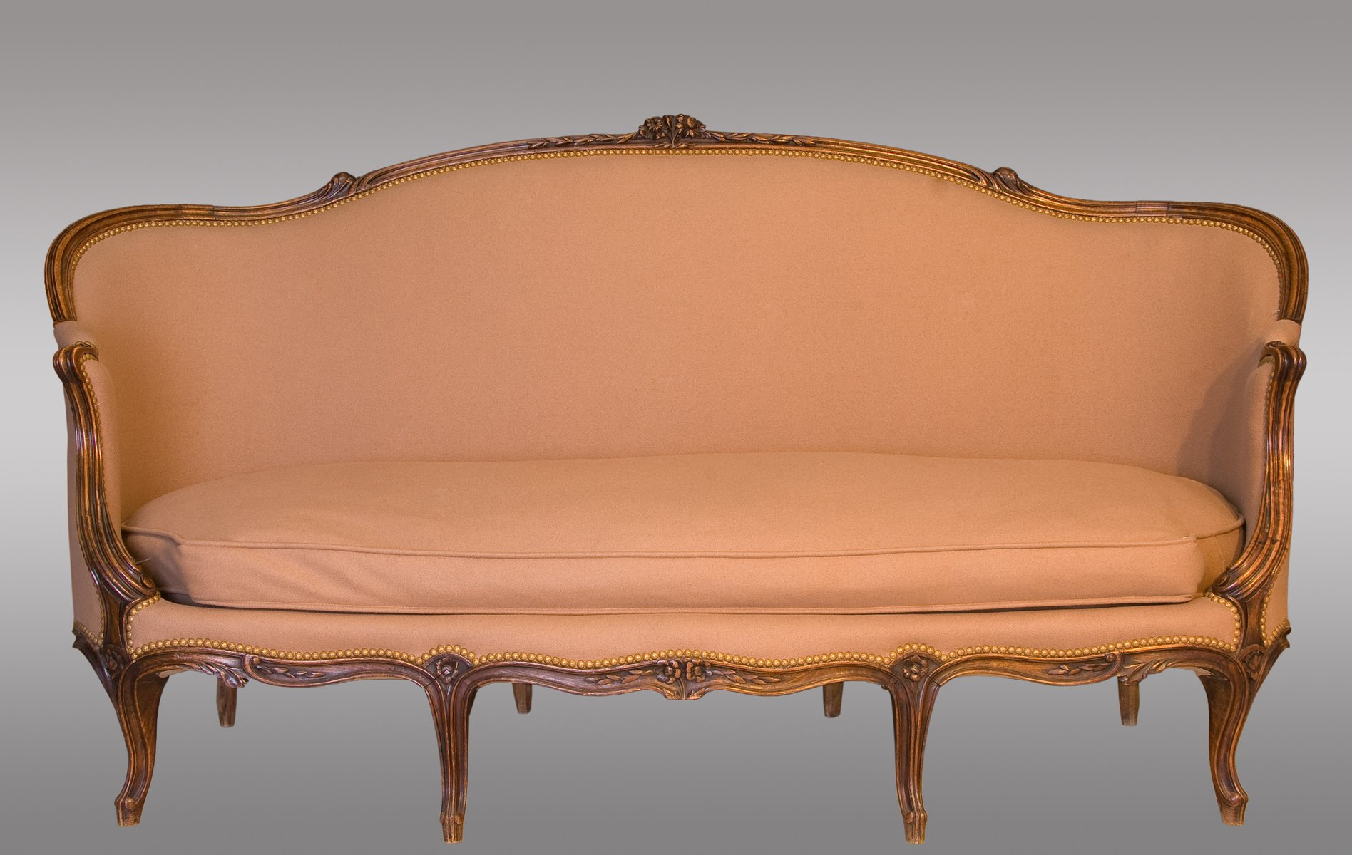 Antique french louis xv canap for sale at pamono for Canape style louis xv