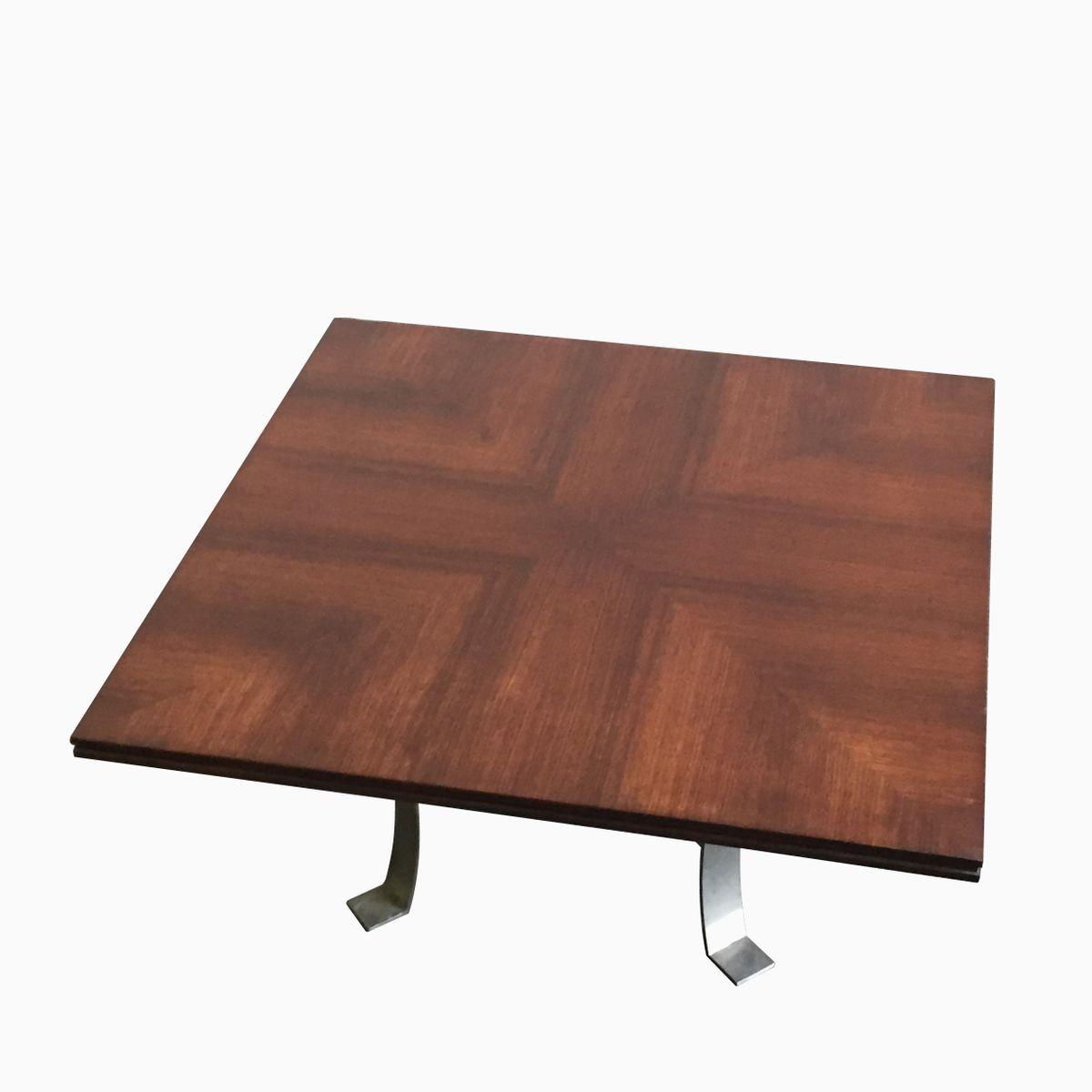 Square Coffee Table Metal Legs: Vintage Square Coffee Table With Metal Legs For Sale At Pamono