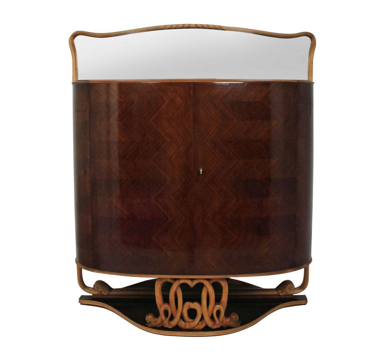 italienischer zitronenbaum und palisander barschrank von. Black Bedroom Furniture Sets. Home Design Ideas