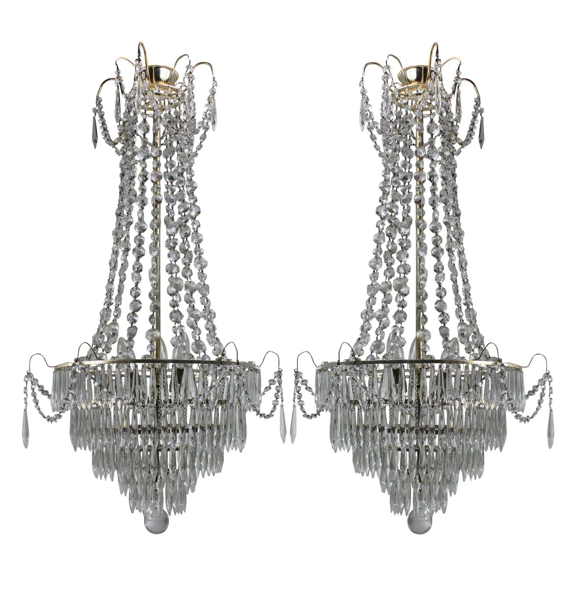 Swedish chandeliers 1930s set of 2 for sale at pamono swedish chandeliers 1930s set of 2 arubaitofo Gallery