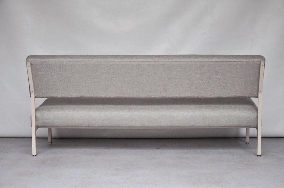 graues metall sofa von gijs van der sluis bei pamono kaufen. Black Bedroom Furniture Sets. Home Design Ideas