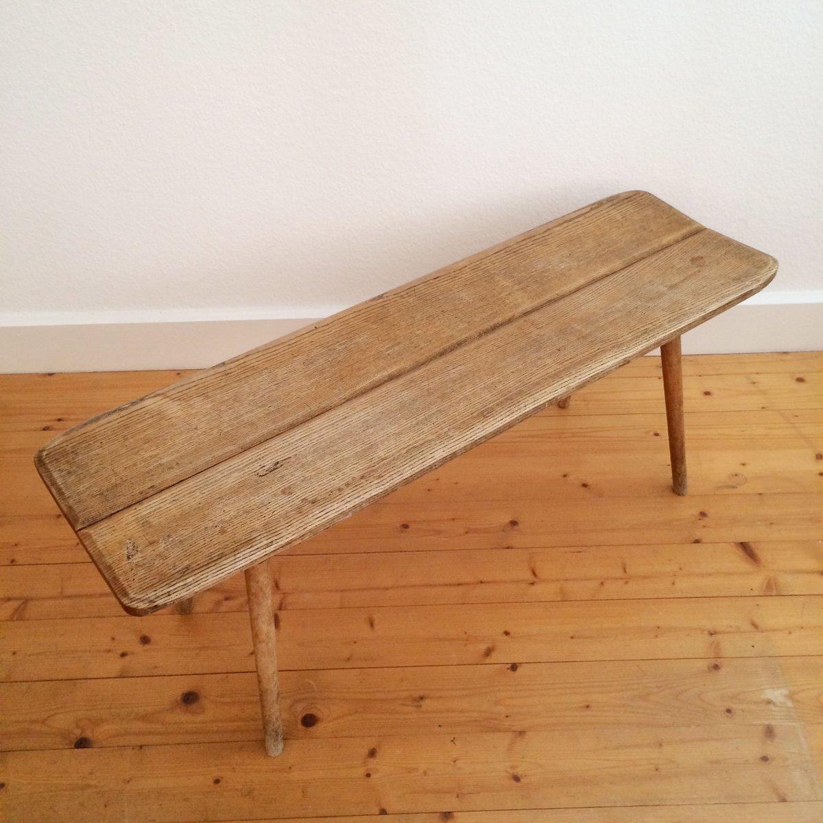 vintage bank aus holz von jacob m ller f r wohnhilfe. Black Bedroom Furniture Sets. Home Design Ideas